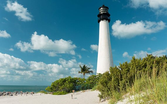 Lighthouse at Bill Baggs Cape Florida State Park Beach