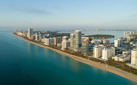 Vue aérienne de Miami Beachfront Hotels