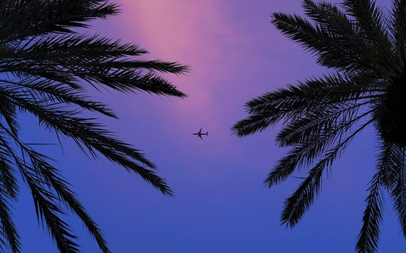 Airplane over Miami