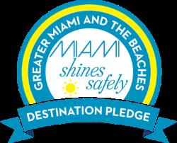 Logotipo de compromiso de destino de Miami Shines